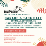 2020 End of Year Garage & Tack Sale